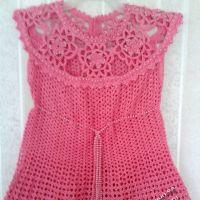 Вязаное крючком платье для девочки — работа Ирины