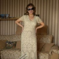 Вязаное крючком платье – работа Марии