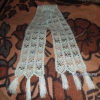 Ажурный шарфик — работа  Анны Кымылдан