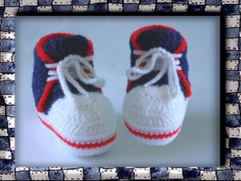 Пинетки - кеды крючком для новорожденного, пошаговый мастер - класс