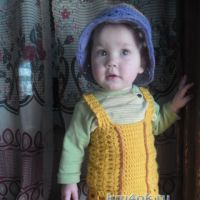 Сарафан и панама для девочки — работа Гульнары