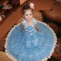 Детское платье крючком — работа Коряковой Дарьи