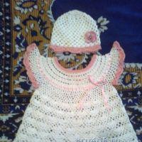 Детское платье и шапочка — работы Олеси