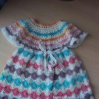 Детское платье крючком — работа Надежды