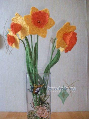 Вязаные цветы — работы