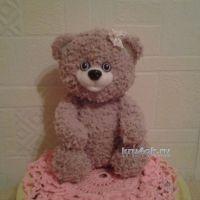 Вязаный медвежонок — работа Анжелы