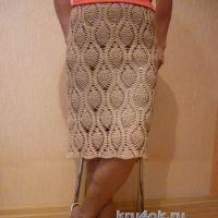Вязаная крючком юбка — работа Татьяны