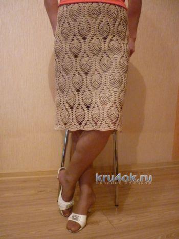 Вязаная крючком ажурная юбка от Татьяны