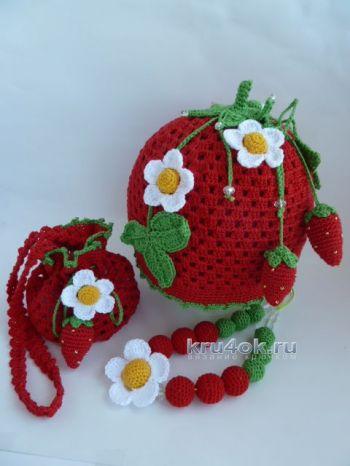 Вязаные крючком шапочки – работы Марины Стоякиной. Вязание крючком.