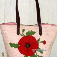 Украшение для сумки — работа Татьяны