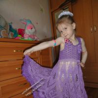 Вязаное крючком платье — работа Катерины