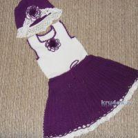 Сарафанчик и шапочка для девочки