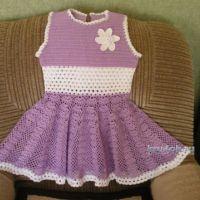 Вязаное крючком платье — работа Лидии