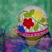 Панама «листики» — работа Анастасии
