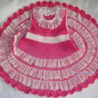 Платье для девочки связанное крючком — работа Елены