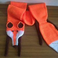 Вязаный крючком шарф — лисичка