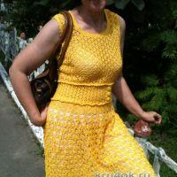 Вязаное платье — работа Анжелы