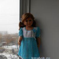 Вязаное платье — работа Татьяны Султановой