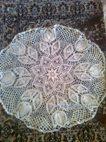 Вязаные крючком салфетки — работы  Валиуллиной Алии. Вязание крючком.