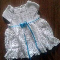 Вязаное платье для девочки — работа Веры