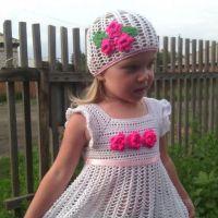 Детское платье крючком — работа Анастасии Оринтас
