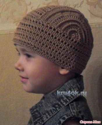 Бандана для мальчика – работа Татьяны. Вязание крючком.