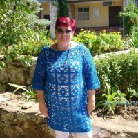 Вязаная крючком туника — работа Елены Плаксиной