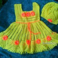 Вязаные детские платья — работы Анастасии Оринтас