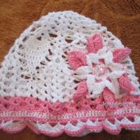 Ажурная шапочка для девочки — работа Натальи