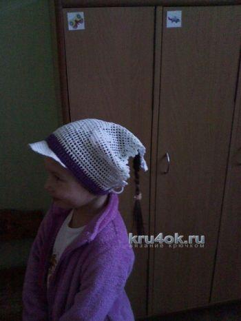 Косынка для девочки – работа Наталии. Вязание крючком.