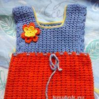 Детское платье крючком — работа Оксаны