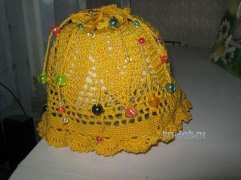 Вязаные шапочки — работы Марины Смирновой. Вязание крючком.