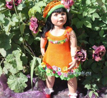 Детское платье «Фея цветов» — работа Ирины. Вязание крючком.