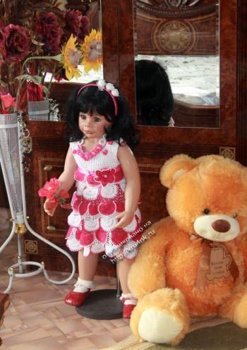 Детское платье «Чудо» — работа Ирины. Вязание крючком.