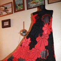 Вязаная крючком юбка — сарафан