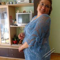 Женский кардиган крючком — работа Татьяны Шевченко