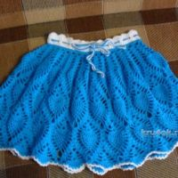 Детская юбка крючком — работа Светланы