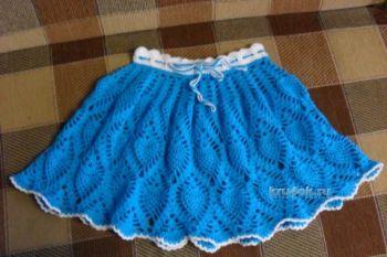 Как связать юбку для девочки крюком