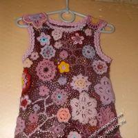 Детское платье в технике ирландского кружева — работа Оксаны