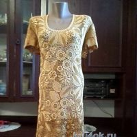 Вязаное крючком платье — работа Павленко Елены