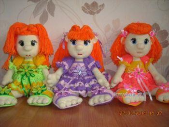 Вязаные крючком куклы — работы Надежды