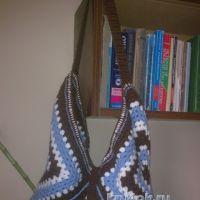 Вязаная сумка из бабушкиных квадратов — работа Elya Vard
