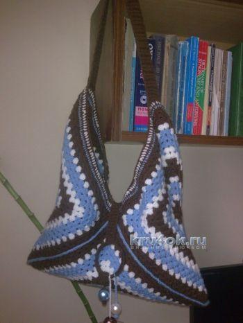 Вязаная сумка — работа Elya Vard. Вязание крючком.