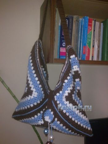 Вязаная сумка из бабушкиных квадратов - работа Elya Vard