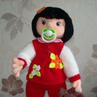 Вязаная крючком кукла — работа Надежды