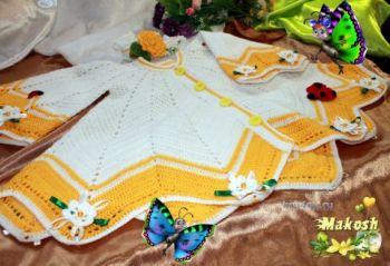 Кардиган Крылья бабочки  — работа Ирины Кангаш. Вязание крючком.