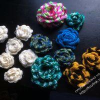Вязаные крючком цветы — работы Александры