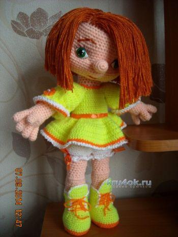 Вязаные куклы — работы Надежды