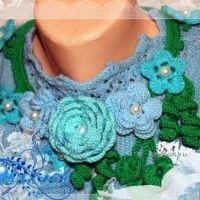 Ожерелье крючком — работа Ирины Кангаш