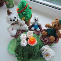 Вязаные игрушки — работы Ольги Фроловой